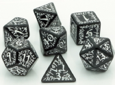 Black & White Elven Dice Set